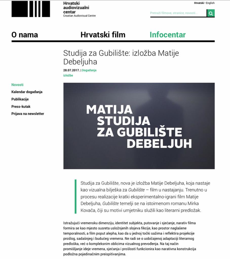 Hrvatski Audiovisualni Centar_Matija Debeljuh